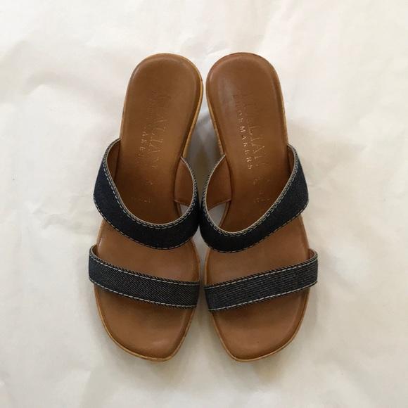 Italian Shoemakers Wedge Sandal, 6.5